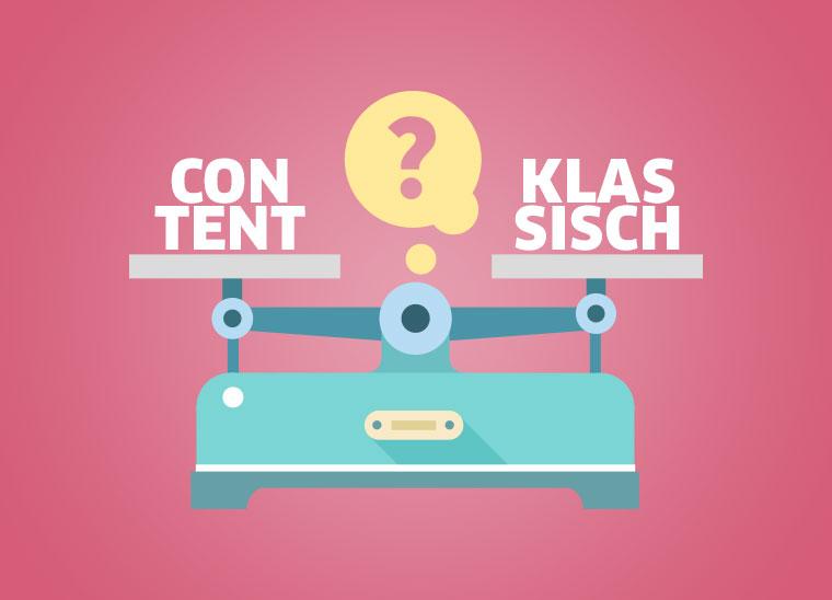 Content Marketing vs Klassisches Marketing, Bkomm Media