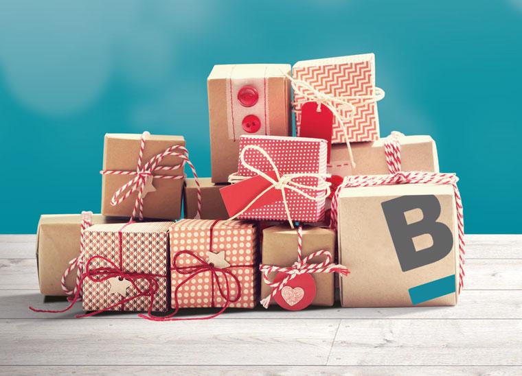 Weihnachtskarte, Weihnachtsspende, Bkomm