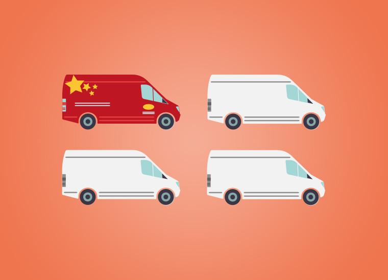 Fahrzeugbeschriftung, die mobile Visitenkarte, Bkomm Media